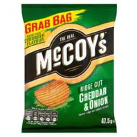 McCoys thick cut Crisps.  36 x 47.5g Cheddar & Onion